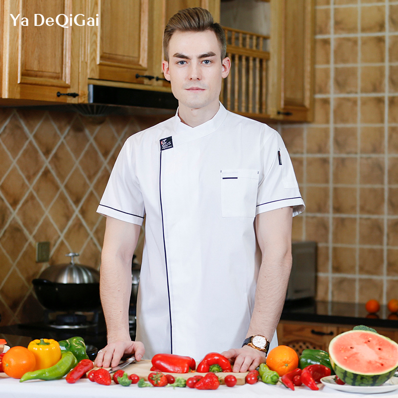 Breathable Chef Uniform Breakfast Men's Wear Chef Jackets Cooking Cafe Coffee Shop Sushi Place Casual Shirt Dessert Housewife
