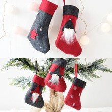 Portable Mini Candy Bag Ornament Christmas Stocking Gift Tree Hanging Decoration