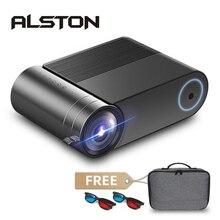Проектор ALSTON YG420, Full HD, 1080P, 3800 люмен, домашний кинотеатр, видеопроектор, HDMI, VGA, AV, USB, с подарком
