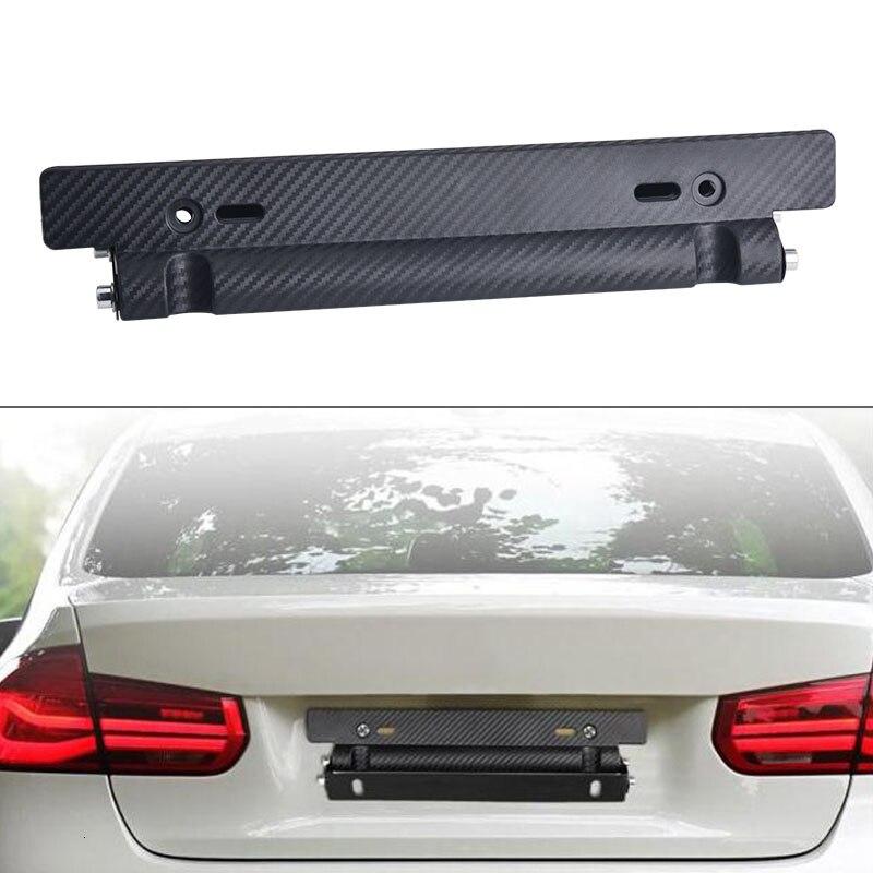 Universal Car Number License Plate Frame Bracket Holder Adjustable Front Mount Bumper Brackets Frame For Car Numbers