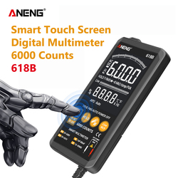 ANENG 618B Digital Multimeter Touch DC/AC Professional Analog Tester True RMS Multimetro Transistor Capacitor NCV Testers Meter
