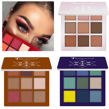 9 Colors Glitter Eyeshadow Palette Matte Eyes Makeup Pallete Eye Shadow Palette Shimmer Diamond Powder Pigment Cosmetics