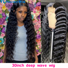 30 40 Inch Deep Wave Lace Front Wigs Brazilian Human Hair 13x4 Lace Front Wig Pre Plucked Remy Lace Front Wig For Black Woman