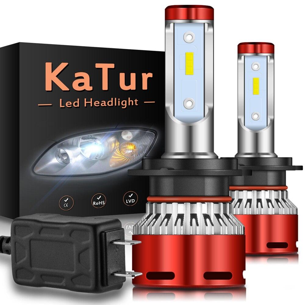 2x H4 H7 H11 9012 HIR2 H3 Car LED Headlight Bulbs Hi-Lo Beam 16000LM 6000K H1 9005 9006 Auto Headlamp Led Car Lights DC12V 24V