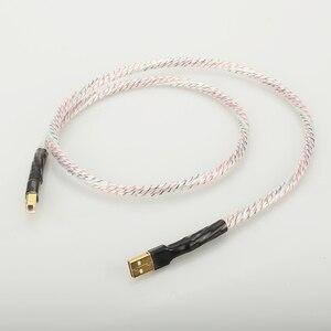 Image 1 - Hifi Nordost Valhalla Top bewertet Versilbert + schild USB Kabel Hohe Qualität Typ A zu Typ B Hifi daten Kabel Für DAC