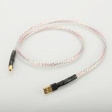 Hifi Nordost Valhalla Top ocenionym posrebrzane + tarcza kabel USB wysokiej jakości typu A do typu B Hifi kabel do transmisji danych dla DAC