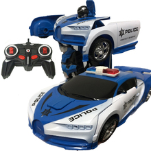RC Police Toy Car Transformation Robots Sports Vehicle Model Robots Toys Remote Cool Deformation Car Kids Toys Gifts For Boys znatok robots
