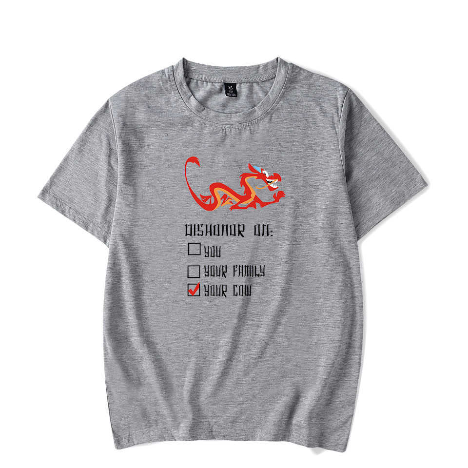 Mulan t-shirt adam 2019 yaz giyim Anime Tee gömlek Mulan sokak erkek giyim T shirt kısa kollu eğilim