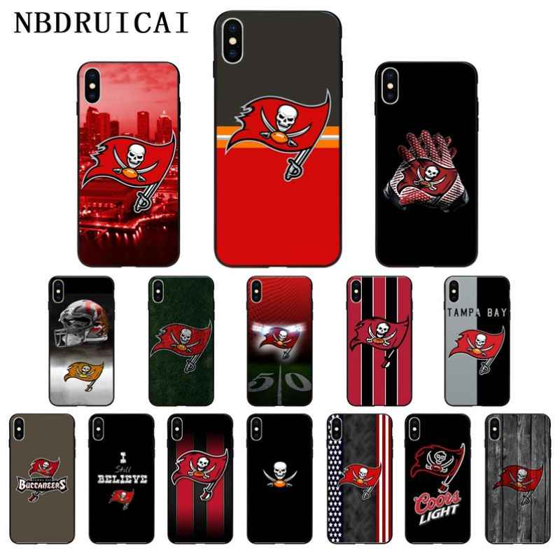 NBDRUICAI Tampa Bay Buccaneer High Quality Silicone Phone Case for iPhone 11 pro XS MAX 8 7 6 6S Plus X 5 5S SE XR case
