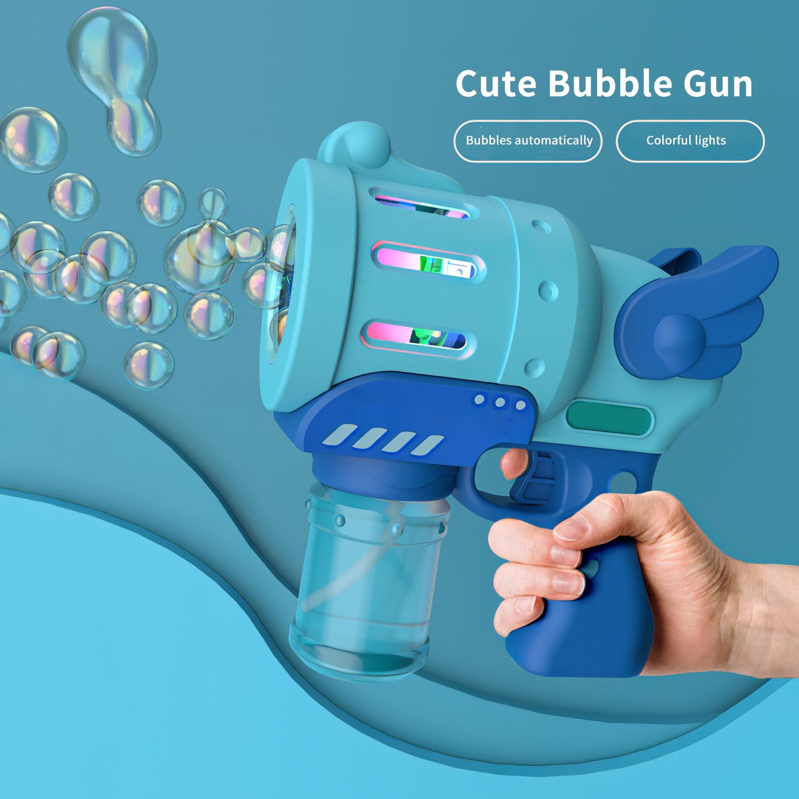 Bubble Machine Automatic Indoor Outdoor Bubble Machine Maker Gun Shape Exciting Bubble Machine Used Gift Reward Children
