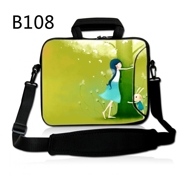 Green Girl 10 Laptop Sleeve Case Bag Soft Pouch for 10.1 Samsung Galaxy Tab 4 / Tab S /Apple iPad 4 3 2 1 image