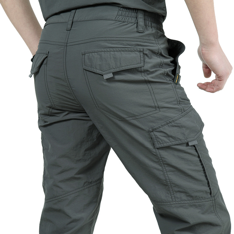 Casual Mens Outwear Waterproof Casual Straight New Quick-dry Work Pants Pockets