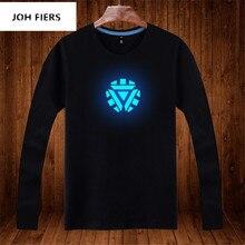 цена на Men's Clothing  Prints long T Shirt Luminous Long Sleeve T Shirts men/Women Casual Tee Tops Streetwear T Shirt Plus Size