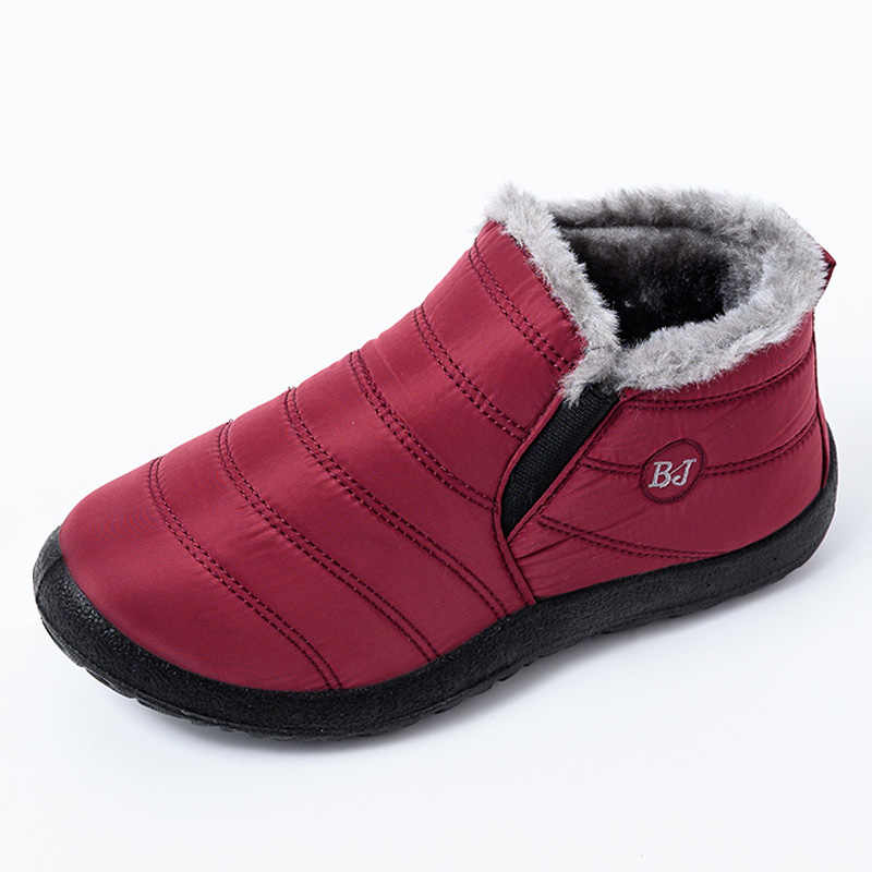 Ankle Boots For Women Winter Boots Female Winter Shoes Waterproof Boots Women Winter Shoes Women Snow Boots Fashion Booties Red