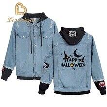 Jean Jacket Womens Denim Jackets Halloweens Day Gifts Streetwear Tops Spring Anime Harajuku Hip Hop Clothing Coat