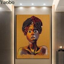 diy 5d diamond painting kits Abstract African women art cross stitch embroidery Mosaic rhinestones Decoration gift