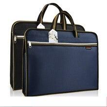 Carpeta de archivos A4, funda de portátil, maletín portátil de lona Oxford, Gran capacidad, oficina, negocios, conferencia, bolsa de documentos, personalización