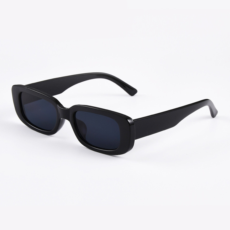 Summer New Small Frame Rectangle Lens Women Men Sunglasses Solid Color Retro Fashion Eyewear Glasses 2020 Wild Sunglasses