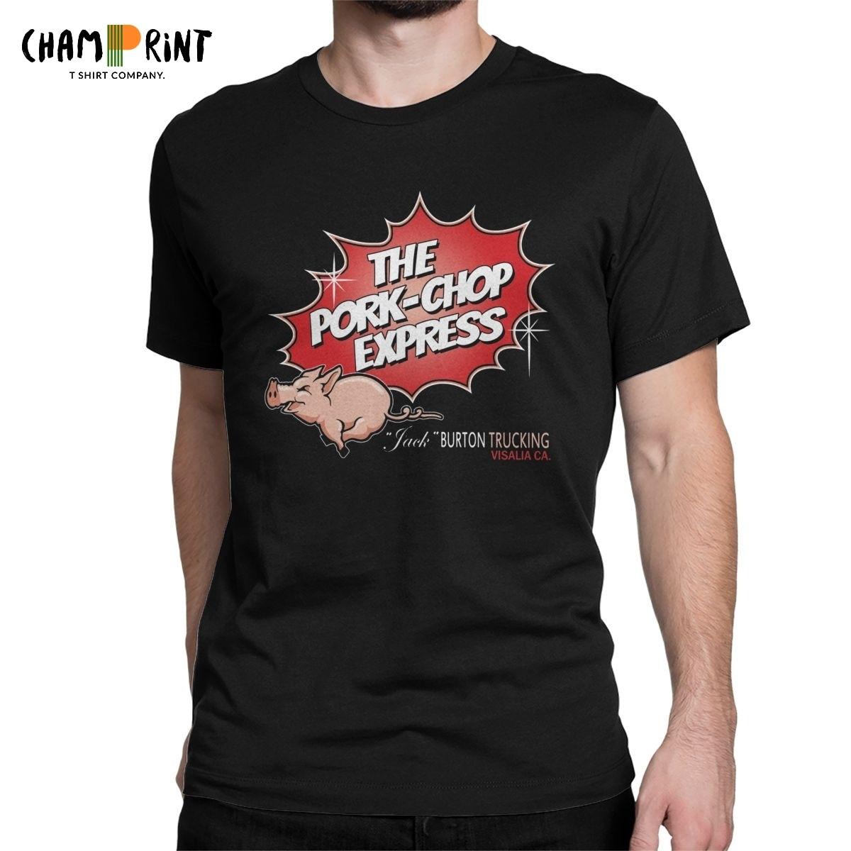 Men T-Shirt Big Trouble In Little China Pork Chop Express Unique Cotton Tees Short Sleeve T Shirts Crew Neck Clothing Plus Size
