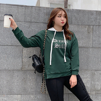 New fashion for plus size women in 2019 fall tops loose and thin fake two piece matching hoodie 2141