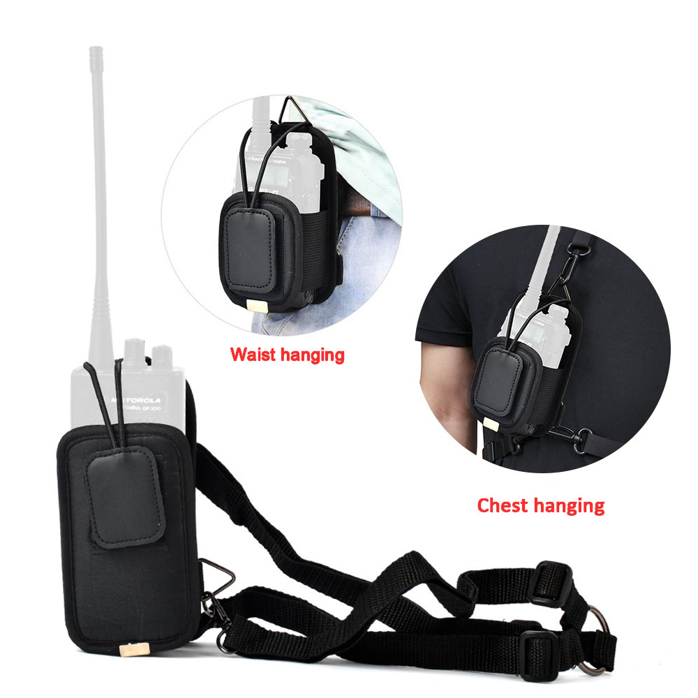 Adjustable 2-Way Radio Protector Carrying Case Multi-Function Pouch Holster For Kenwood Puxing Icom Wouxun Yaesu Walkie Talkie