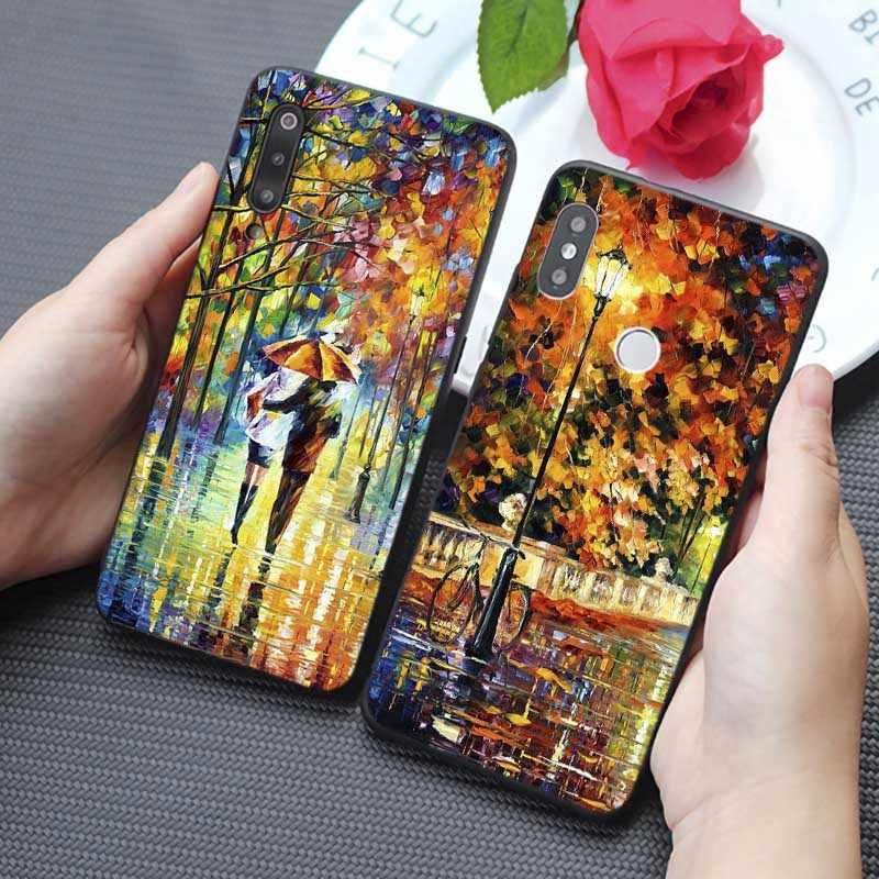 For xiaomi  mi 9 9 pro 9t 9 se mi 8 pocophone f1  mix 3 Clear Soft Silicone Phone Case Van gogh art