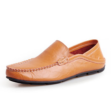 Genuine Leather Men Shoes Casual Flat Waterproof Breathable Loafers Moccasins Comfortable Hot Sale