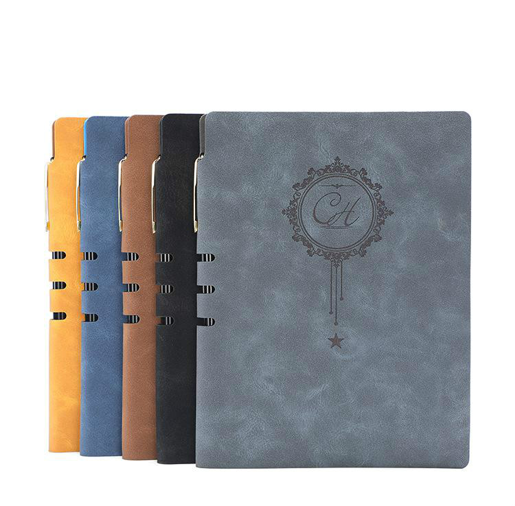 Leather Notebook Notepad Business Planner Notebook Diary Journal Note Book For Office School Stationery Supplies Gifts