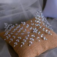 Cubic Zirconia Zircon Tiaras Headband Bridal Hairband Headdress Leaf Head Piece Crowns Wedding Jewelry Dress Hair Accessories