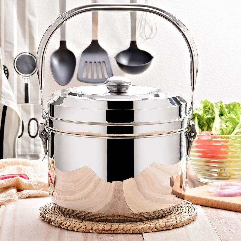 Fire-free Re-cooking Pot Gas and Electricity Dual-use Energy-saving Insulation Pot Stainless Steel Pot Soup Pot Stew Steamer