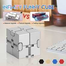 Hot Updated Version Mini Infinit Cube Finger Anxiety Stress Relief Blocks Magic Cube Toy Funny Cube Puzzle Relax toy for Adults(China)