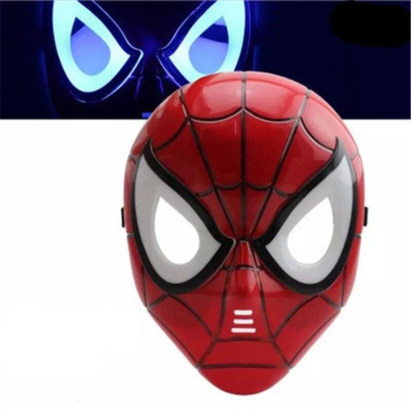 Spiderman Masks And Gloves Marvel Avengers 3  Hulk Black Widow Vision Ultron Iron Man Captain America Action Figures Model Toys
