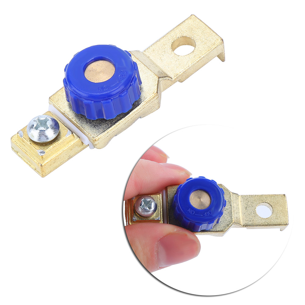 Universal 12V Auto Battery Master Disconnect Top Post Cut Off Kill Switch Link