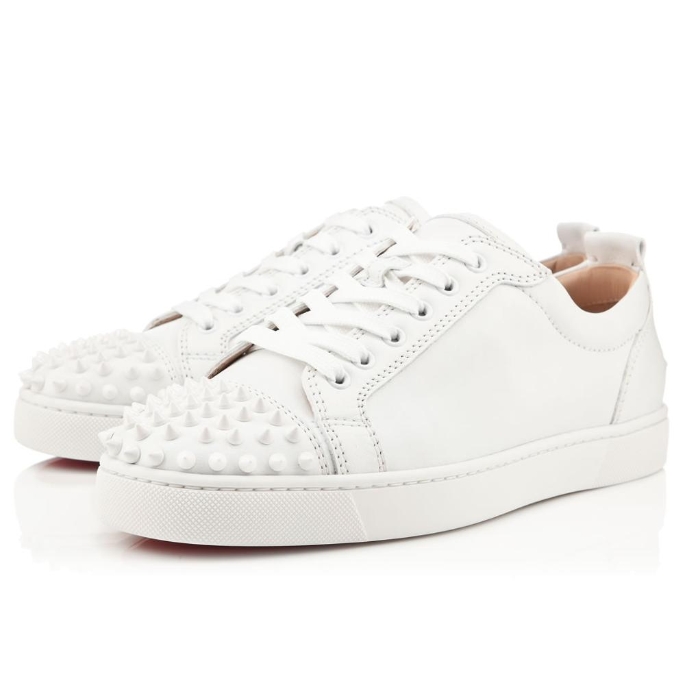Chaussures blanches pour Hommes, à lacets, à rivets