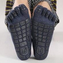 3 Pairs Yoga Socks For Men Non-slip Grip Fitness Socks Five Toe Sport Socks Gym Workout Dance Yoga Pilates Sportswear