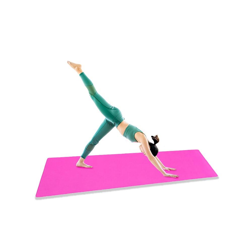 Yoga Mat 4MM Thick Exercise Fitness Physio Pilates Gym Mats Non Slip Soft EVA