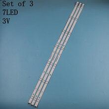 3 Pçs/set tira retroiluminação LED para LG 43UJ6300 43UJ6500 43UJ6560 43UJ651V 43UJ561V 43UJ701V 43UK6200 43UJ630V 43UJ635V 43LJ614V