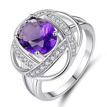 Anillo de platino de mujer Zirconia cúbica exquisito anillo de moda accesorios de chica Venta caliente regalo festivo de chica personalizable