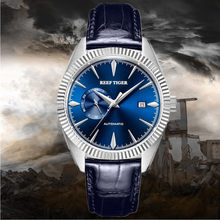2019 Special price Tiger Reef/RT Automatic Dress Watch Men Top Brand Luxury Leather Waterproof Watch Relogio Masculino+Box RGA16(China)