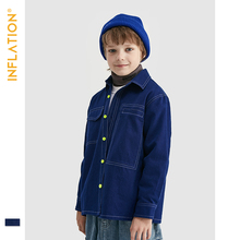 INFLATION 2019 Boy Jean Jacket Autumn Clothes Coat In Blue Color Casual Outwear Kids Clothing Jackets 19703A