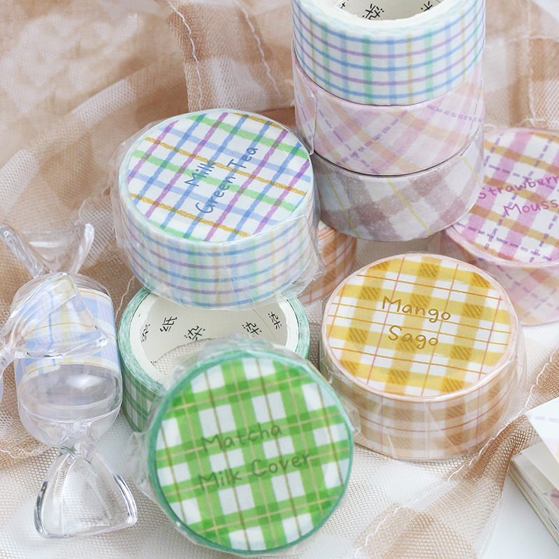 Mohamm ICE SWEET Series Color Washi Masking Tape Release Paper Stickers Scrapbooking Stationery Decorative Tape