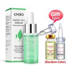лучшая цена EFERO Green Tea Face Serum Shrink Pores Essence Moisturizing Whitening Face Cream Skin Care Anti-Aging Anti-Wrinkle Day Cream
