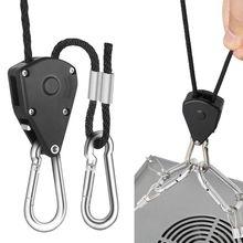 """1/"""" шкив веревка трещотка фиксирующая вешалка подъемный шнурок палатка комнатный вентилятор растение R7RC"""
