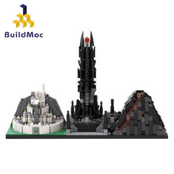 in stock lepin sets 16010 2430pcs lord of the rings figures the tower of orthanc model building kit blocks bricks kid toy 10237 BuildMOC Lօrd of Rings Minas-Tirith The Black Gate Movie Collection Model Montenegro Building Blocks Kits Set Bricks Toys