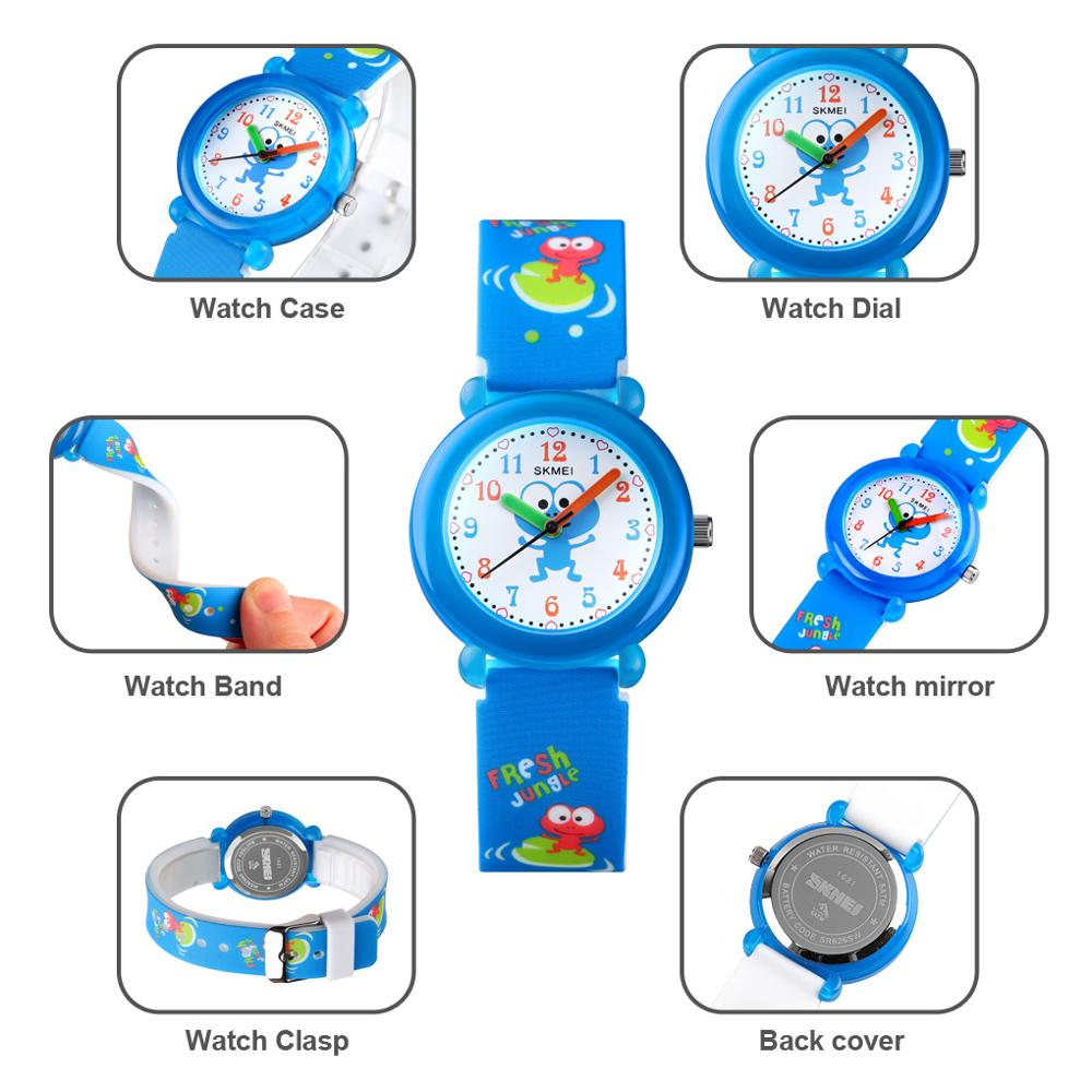 Top Brand SKMEI Children Watch Luxury Sport Quartz Wristwatch 50M Waterproof Girls And Boys Watches Carton Kids Watch Relogio enlarge