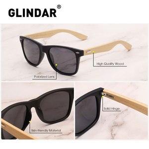 Image 4 - Çizgili çerçeve Retro ahşap polarize güneş gözlüğü marka tasarım erkekler kadınlar Retro güneş gözlüğü sürüş lentes de sol