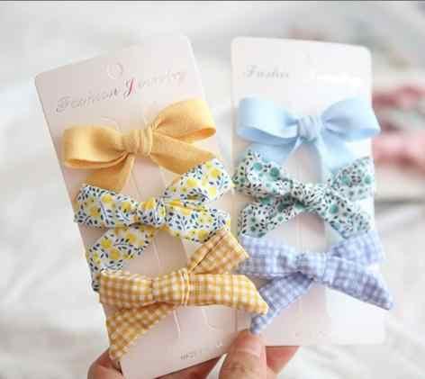 6 pièces/ensemble nouvelles femmes arc coloré épingles à cheveux enfants filles belles pinces à cheveux cravates cordes chapeaux corée cheveux accessoires Hairgrips