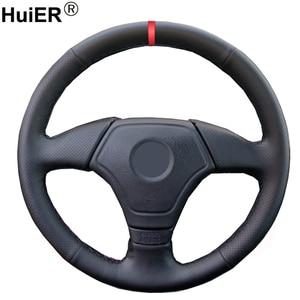 Hand Sewing Car Steering Wheel Cover Wrap For BMW E36 1995-2000 E46 1998 1999 2000 E39 1995 1996-1999 E3 1995-1997 Funda Volante