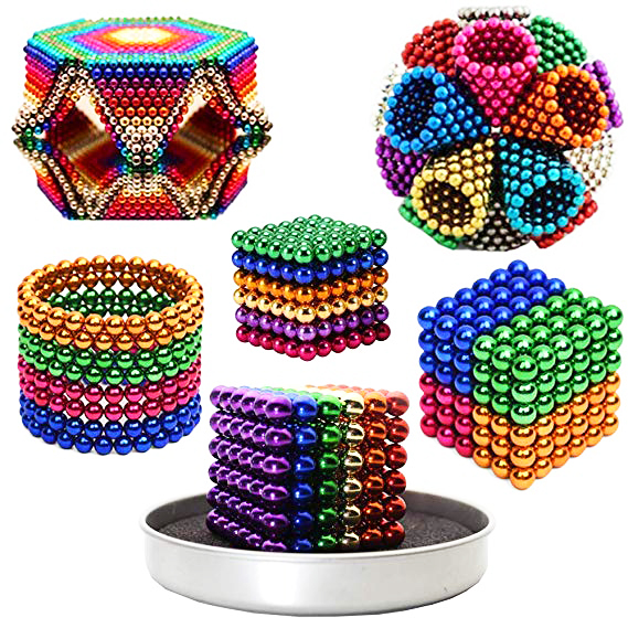 216pcs/set 5mm Magic Magnet Magnetic DIY D5 Balls Sphere Neodymium Cube Puzzle
