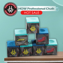 HOW Chalk Billiard Cue Tailor-made Chalk Snooker Chalk Powder Pool Chalk 2 Pieces 2 Choices Per Box Billiard Accessories